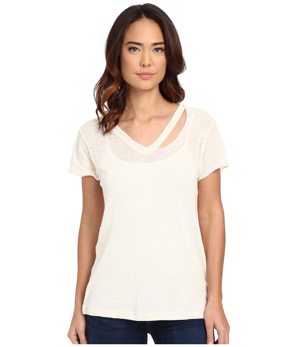 LNA - Fallon V-Neck Shirt (White) Women