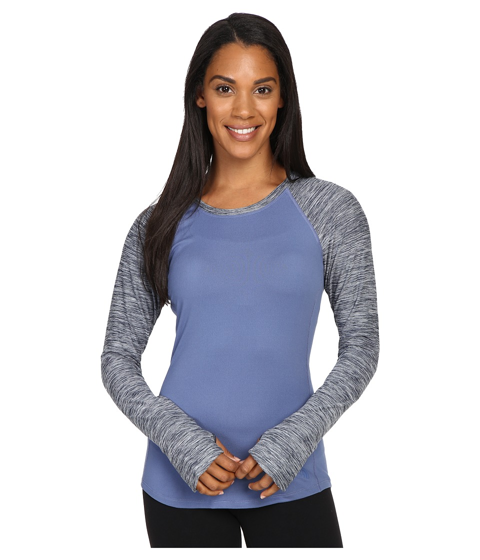 The North Face - Motivation Long Sleeve Top (Coatal Fjord Blue/Cosmic Blue Heather (Prior Season)) Women's Long Sleeve Pullover