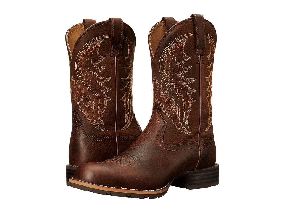 Ariat Hybrid Rancher (Brown Oiled Rowdy 2) Cowboy Boots