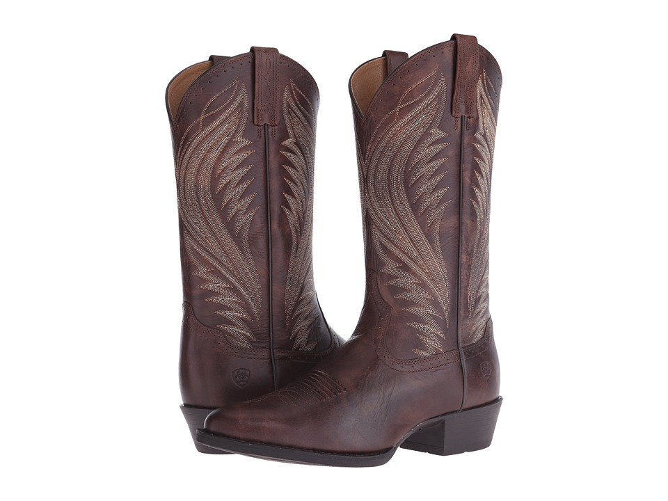 Ariat - Boomtown (Brushed Brown) Cowboy Boots
