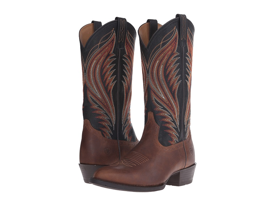 Ariat - Boomtown (Copper Kettle/Black) Cowboy Boots