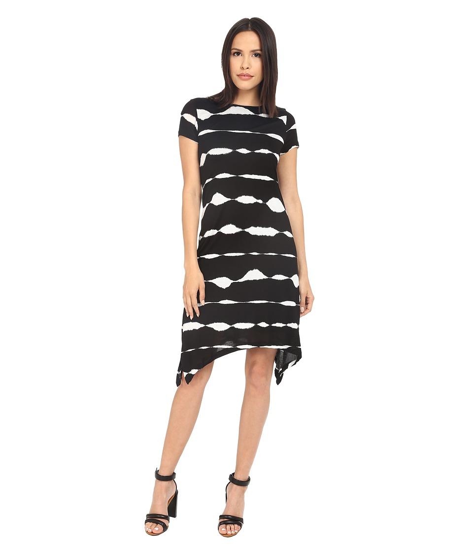 kensie - Animal Stripe Dress KS3K7869 (Black Combo) Women's Dress