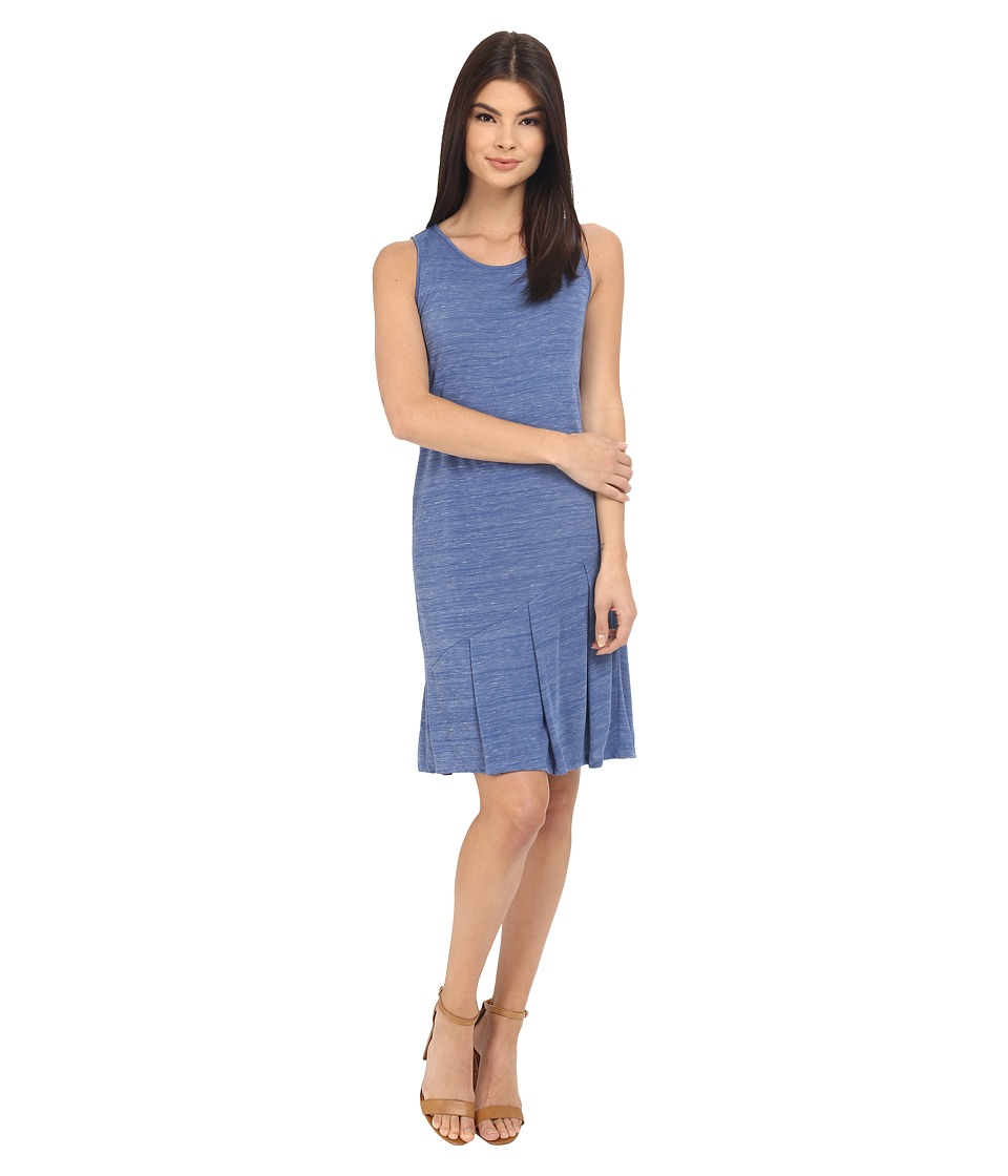 kensie Drapey Space Dye Jersey Dress KS3K7864 (Midnight Sapphire Combo) Women