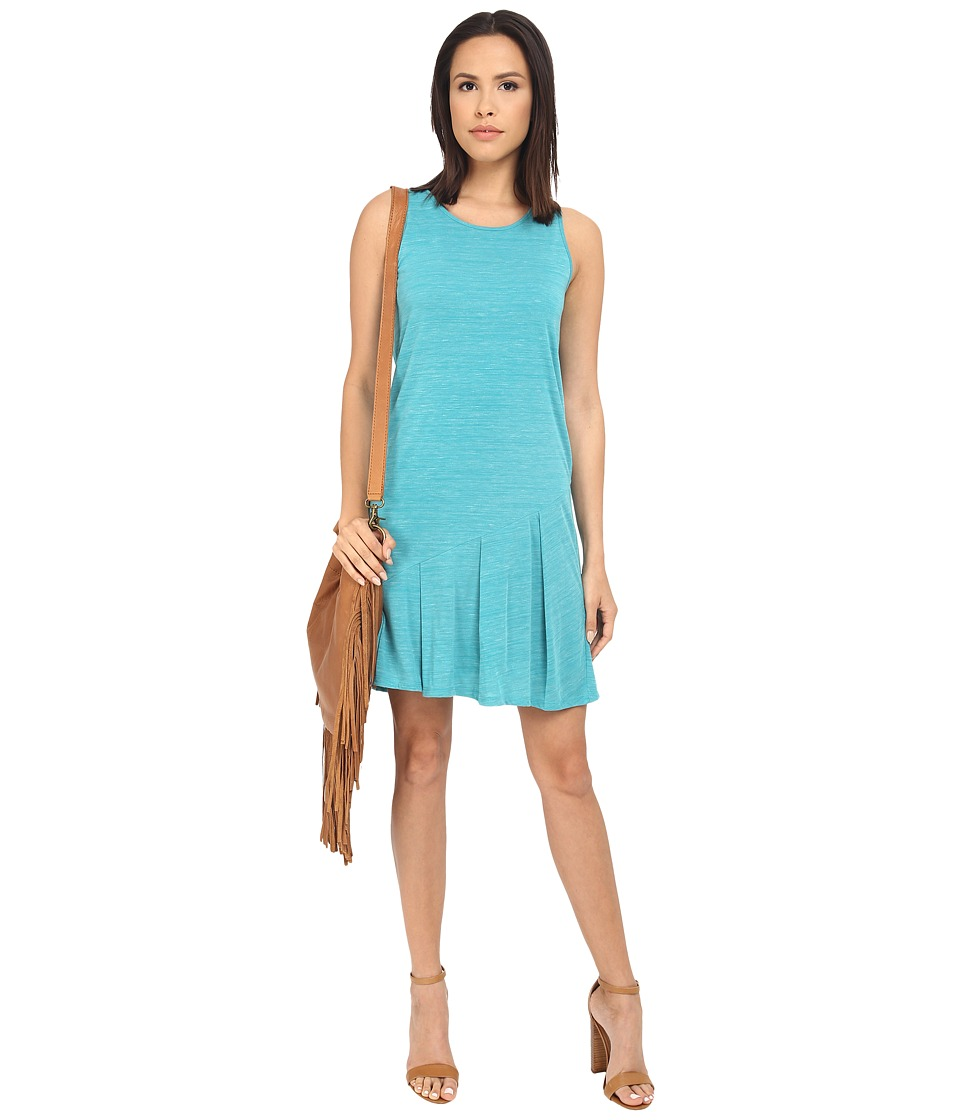 kensie Drapey Space Dye Jersey Dress KS3K7864 (Atlantic Teal Combo) Women