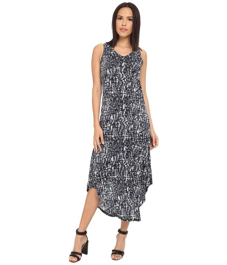 kensie - Water Texture Maxi Dress KS3K7868 (Black Combo) Women's Dress