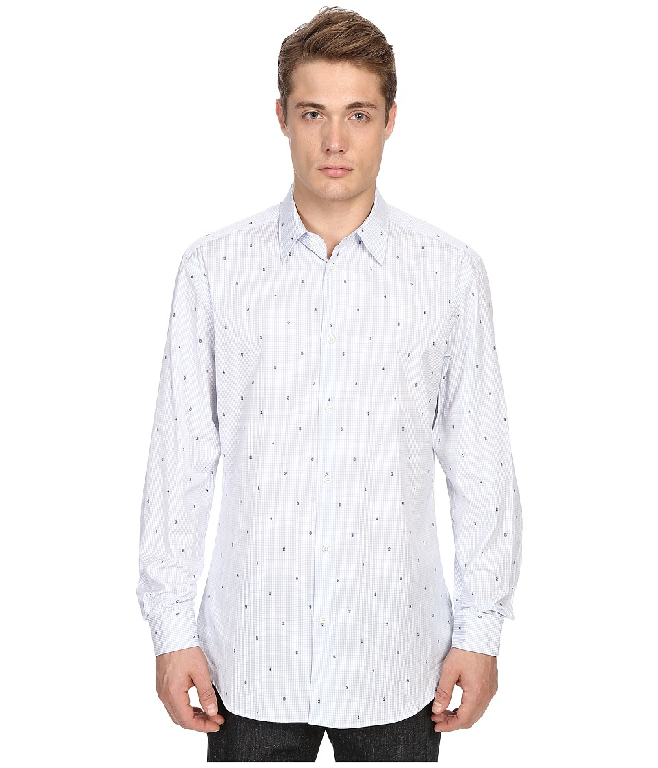 Vivienne Westwood - Classic Cut Away Coupe Number Shirt (Number Coupe) Men's Long Sleeve Button Up