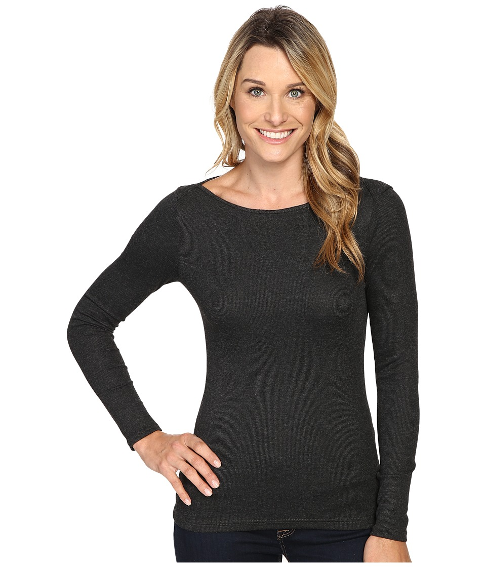 The North Face - Long Sleeve EZ Ribbed Top (TNF Dark Grey Heather) Women's Long Sleeve Pullover