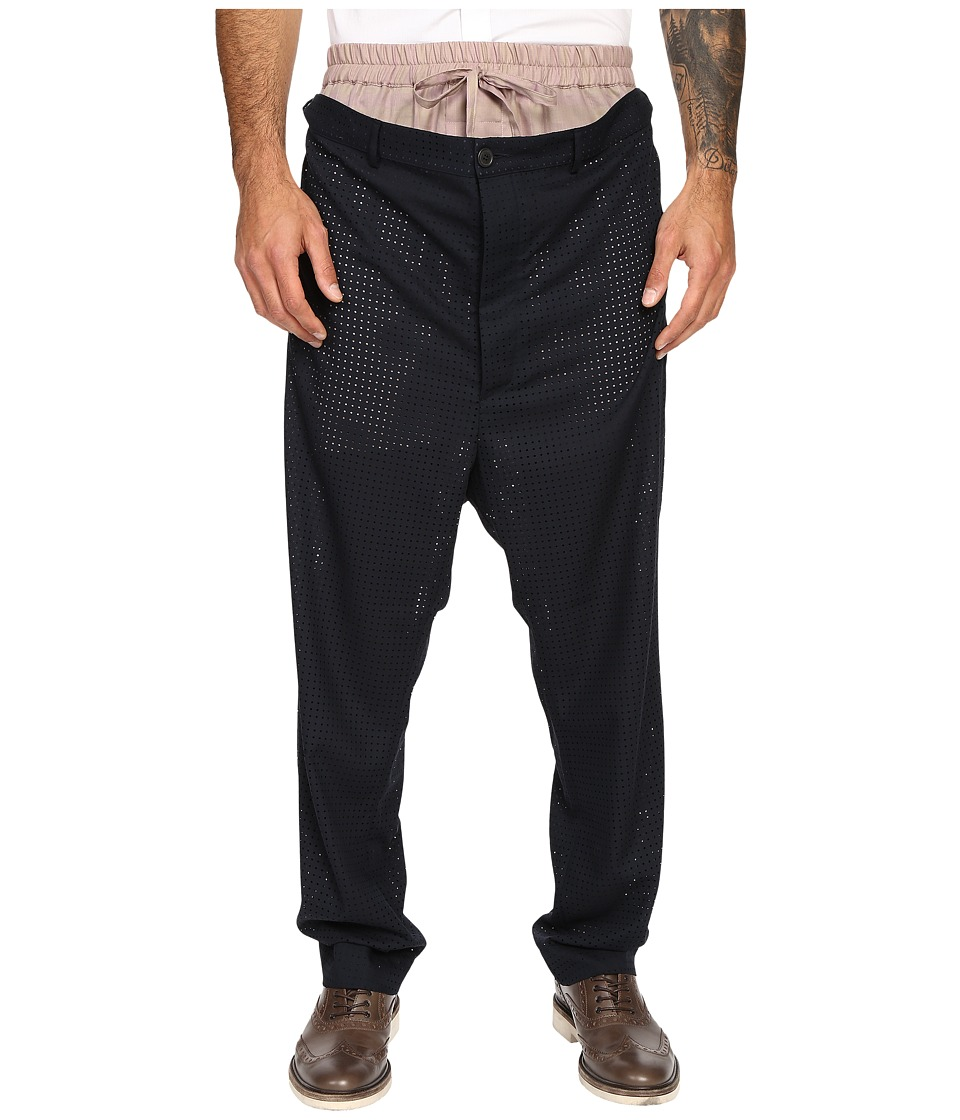 Vivienne Westwood - Laser Wool Builder Trousers (Navy) Men's Casual Pants