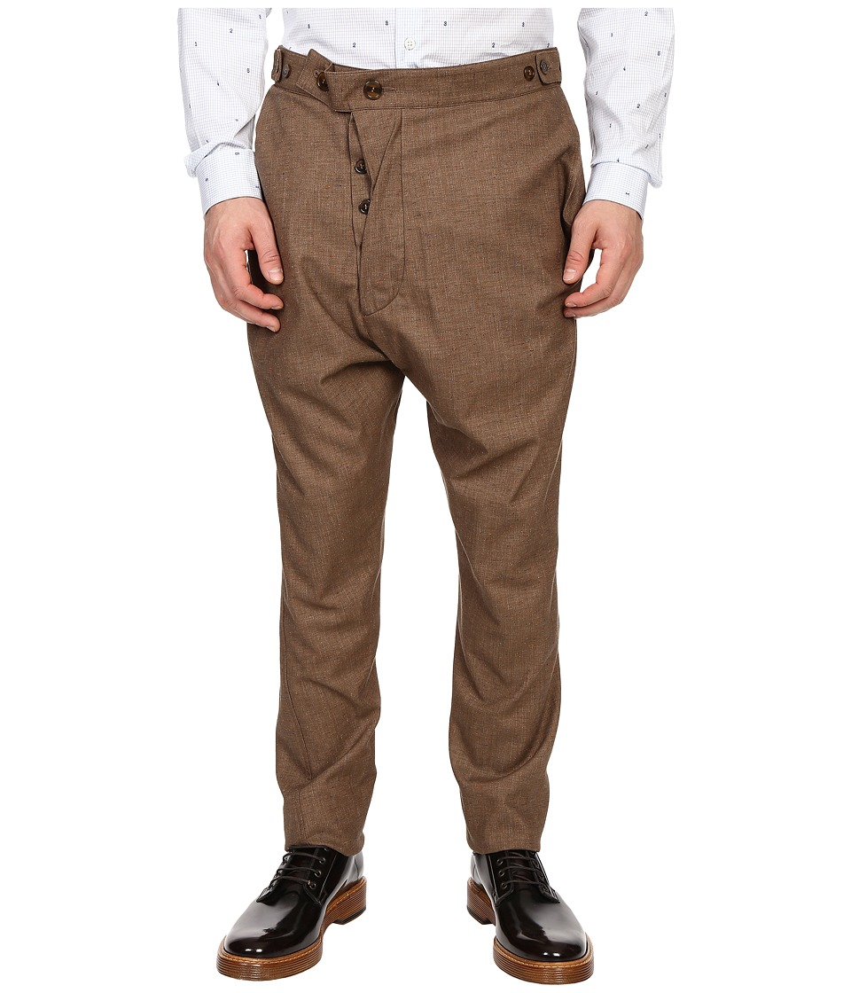Vivienne Westwood - Nappy Wool Alcoholic Trousers (Brown) Men's Casual Pants