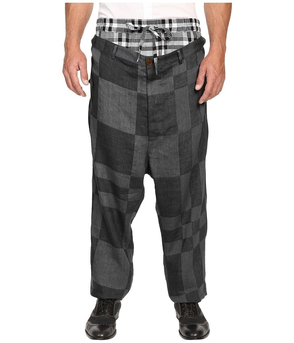 Vivienne Westwood - Cubist Check Builder Trousers (Grey Check) Men's Casual Pants