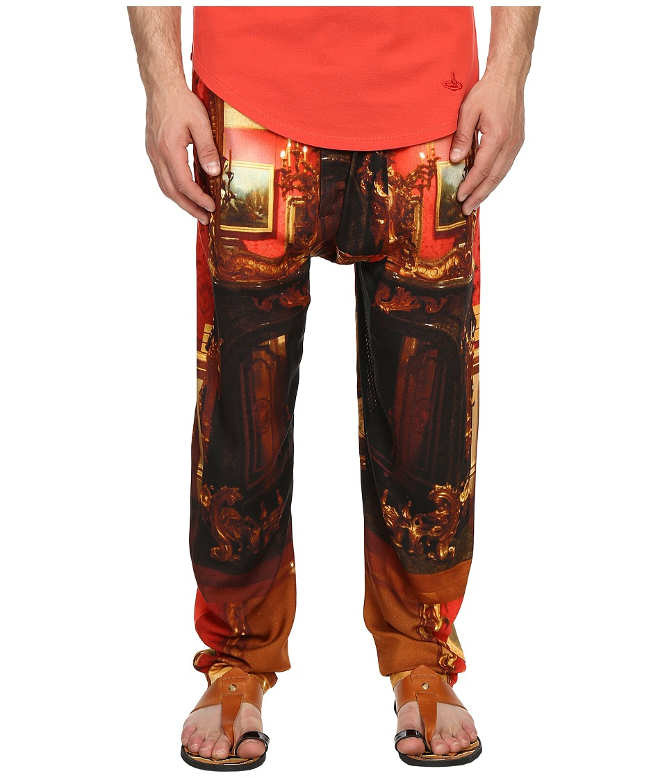 Vivienne Westwood - Wallace Print Viscose Squiggle Trousers (Red Wallace) Men's Casual Pants