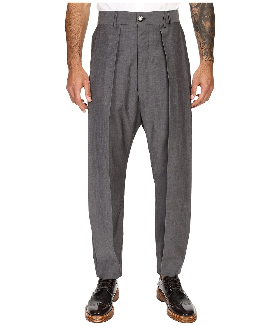 Vivienne Westwood - Classic Suiting Wool Omar Trousers (Grey Melange) Men's Casual Pants