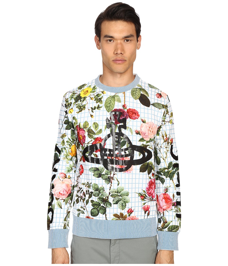 Vivienne Westwood - Roses Sorry Sight Sweatshirt (White Print) Men's Sweatshirt