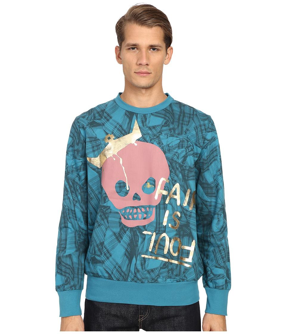 Vivienne Westwood - King Skull Sweatshirt (Turquoise) Men