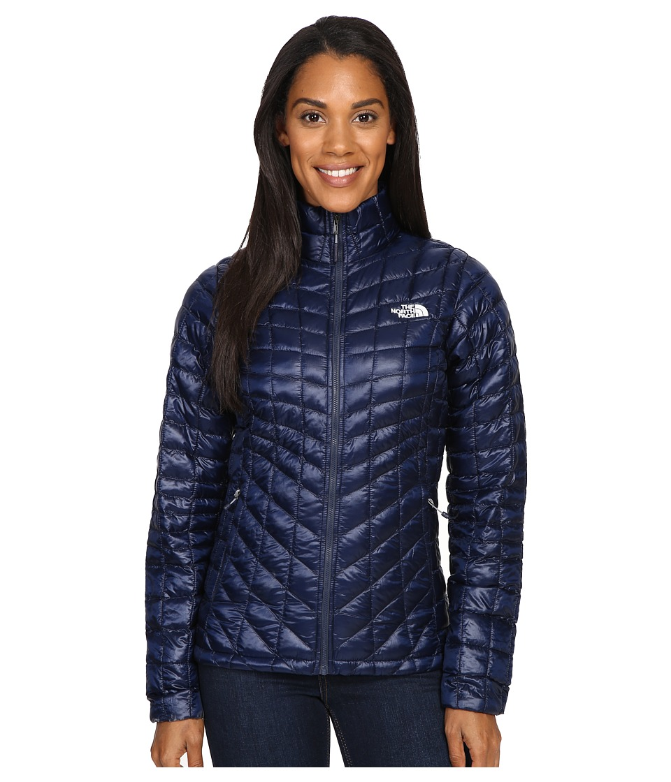 The North Face - ThermoBall Full Zip Jacket (Cosmic Blue/Artic Ice Blue) Women's Coat