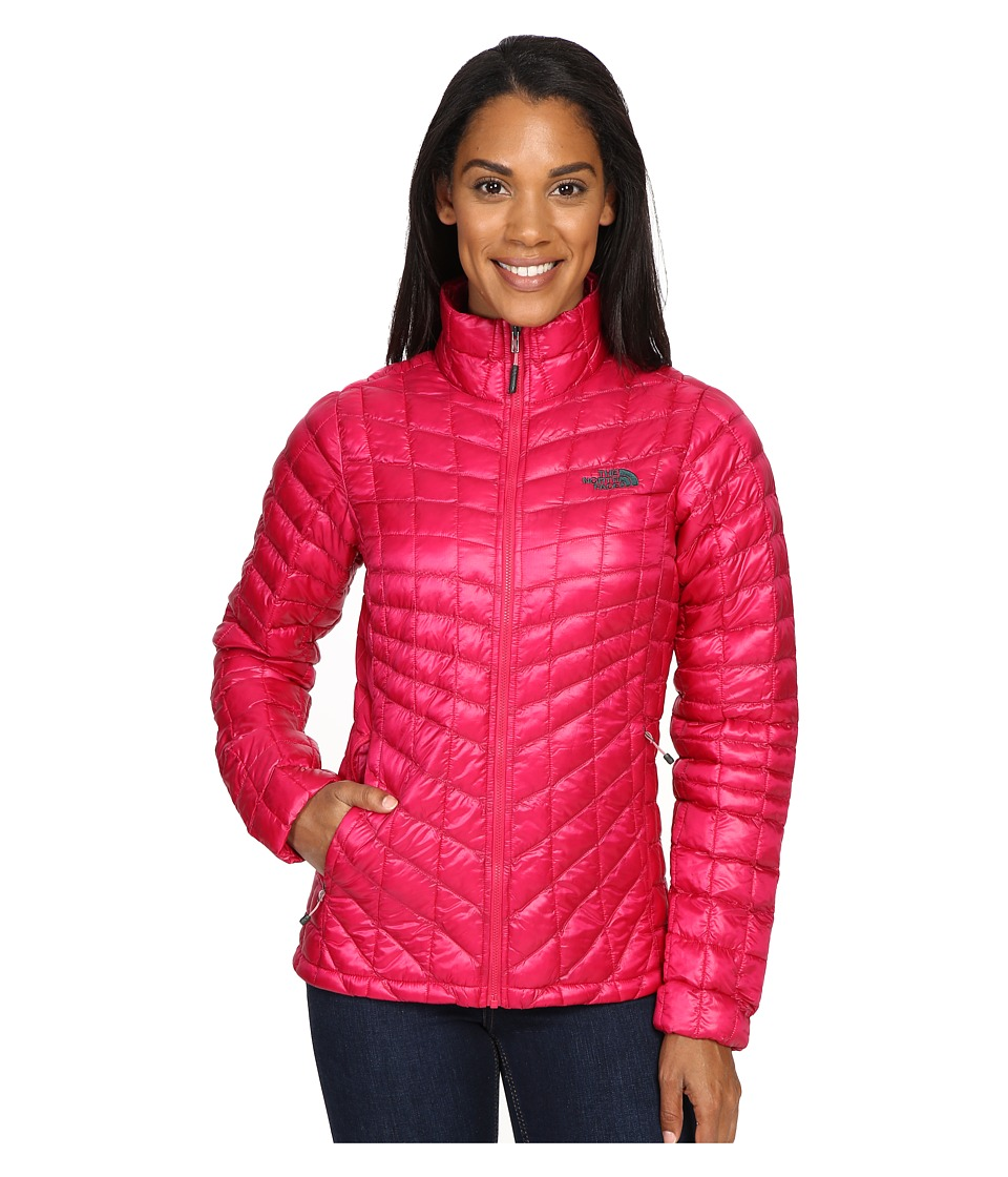 The North Face - ThermoBall Full Zip Jacket (Cerise Pink/Darkest Spruce) Women's Coat
