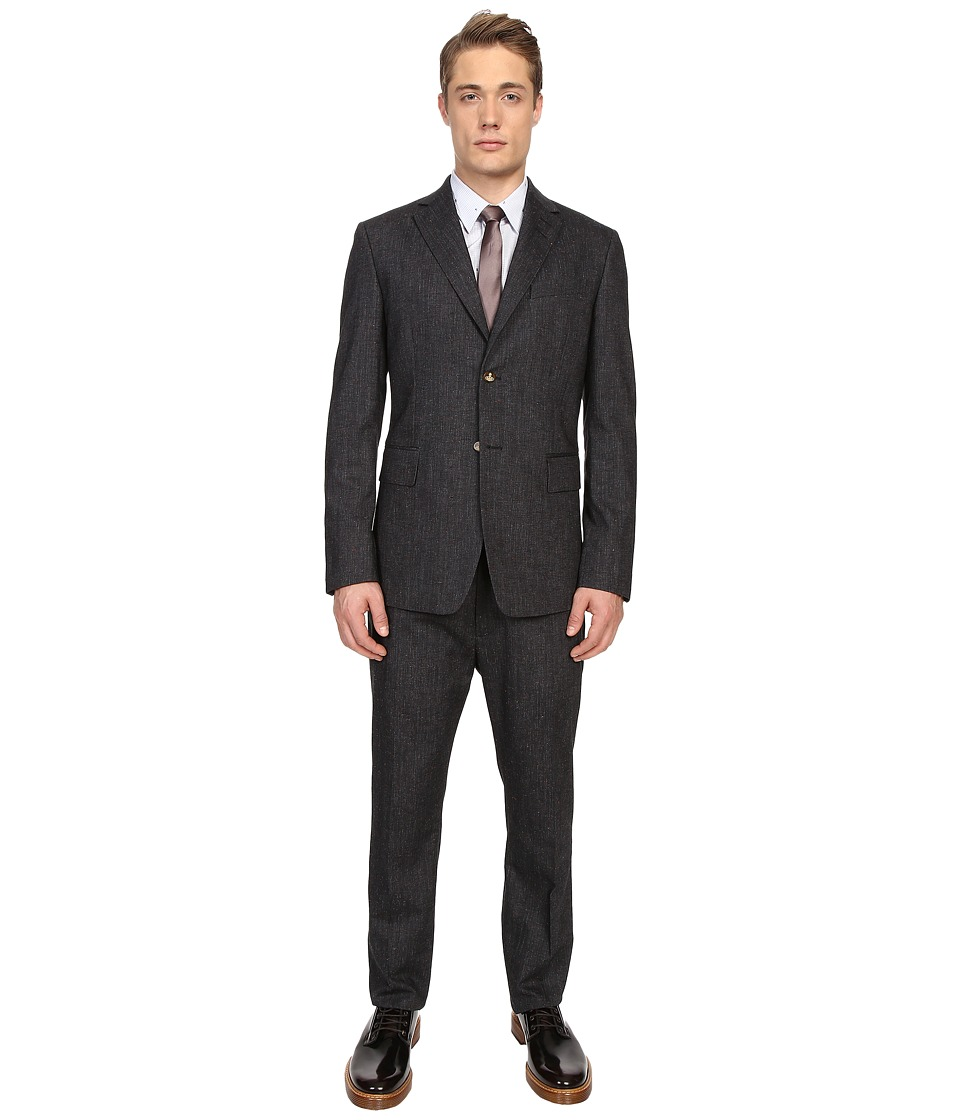 Vivienne Westwood - Nappy Wool Henry Suit (Grey) Men's Suits Sets