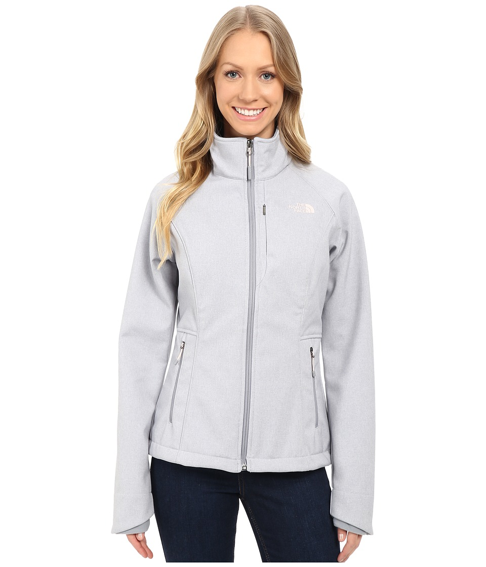 The North Face - Apex Bionic Jacket (TNF Light Grey Heather/Mid Grey/Purdy Pink) Women's Coat