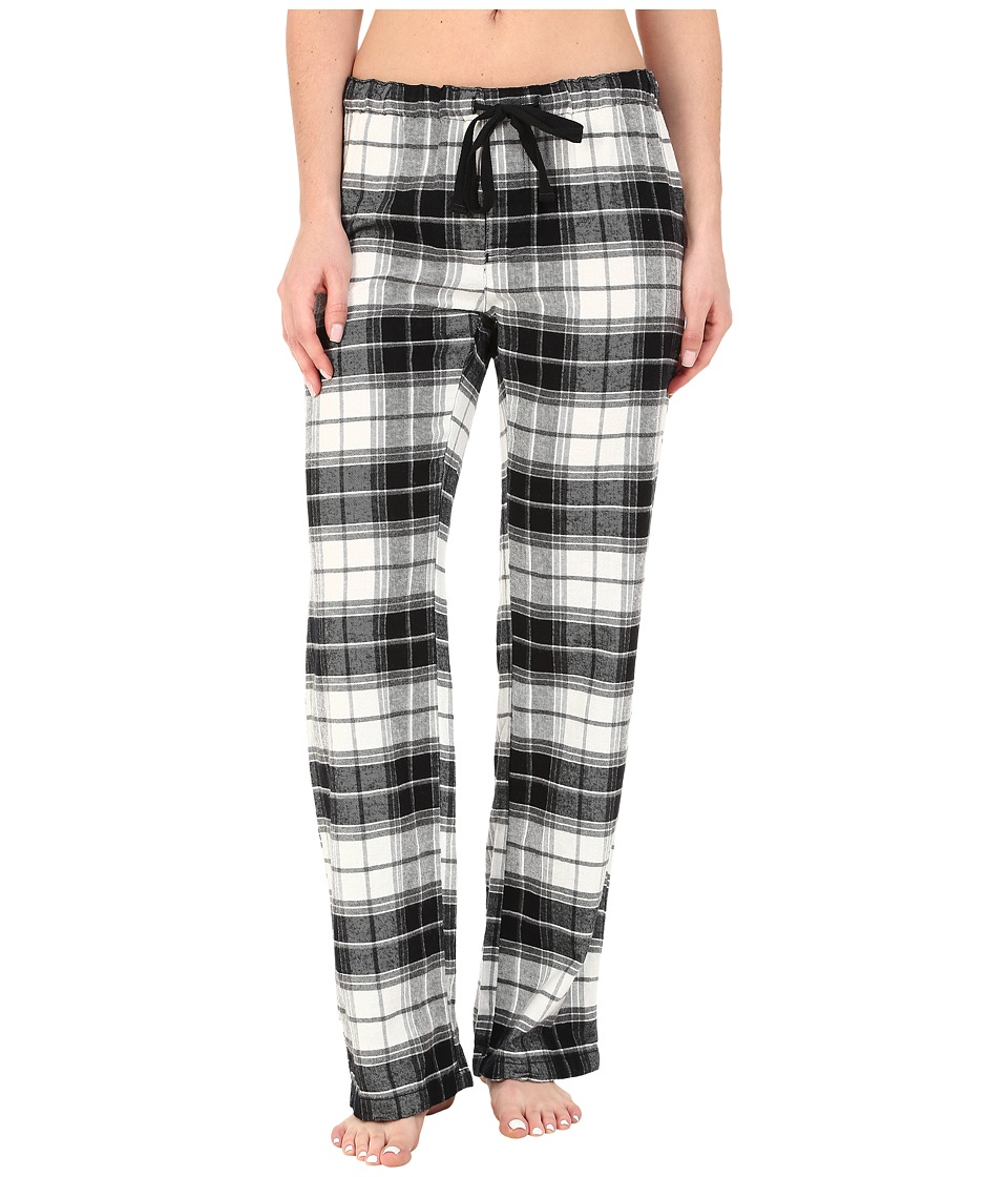 P.J. Salvage - Great Outdoors Plaid Pajama Pants (Black) Women's Pajama