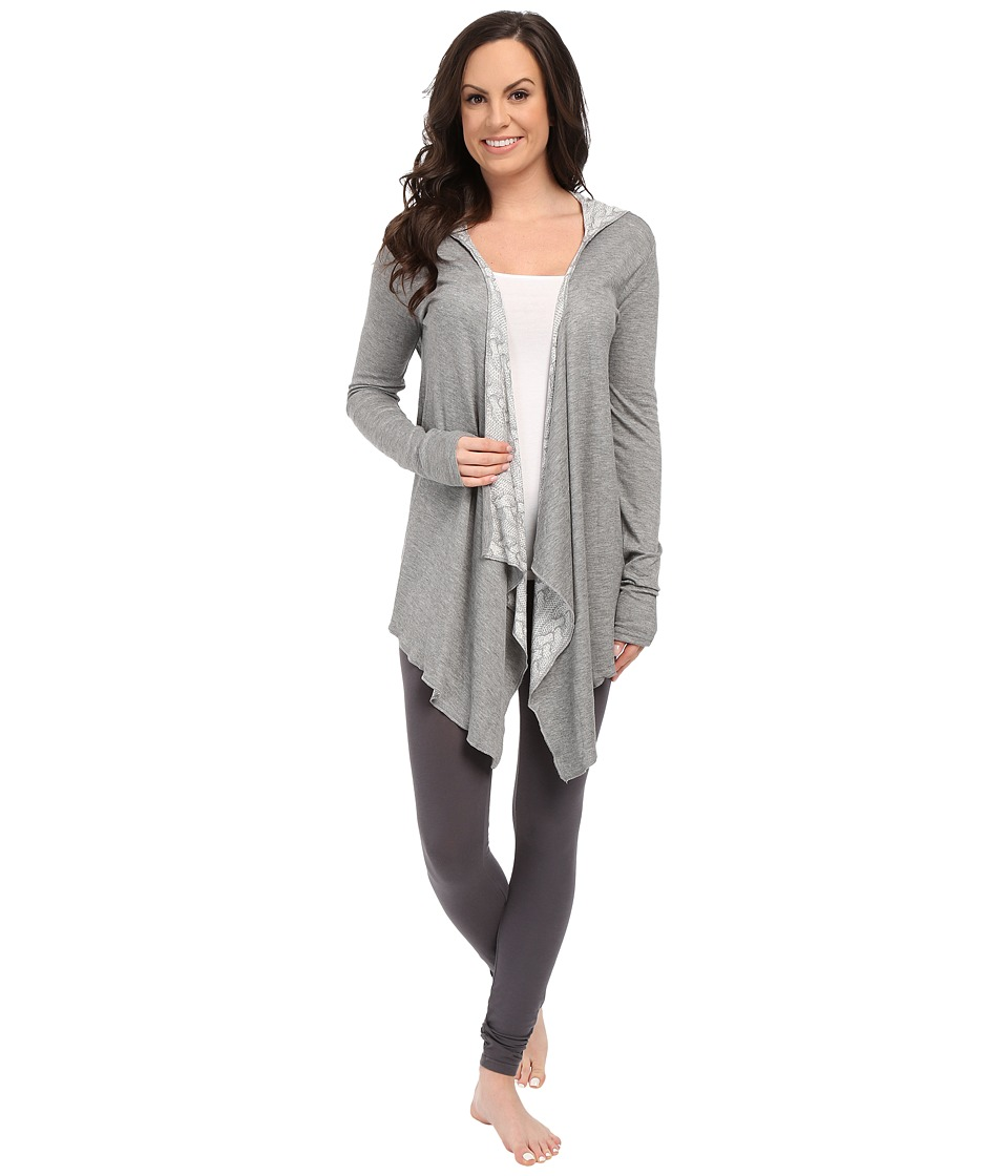 P.J. Salvage - Reversible Cozy in Cable Wrap Cardigan (Heather Grey) Women's Sweater
