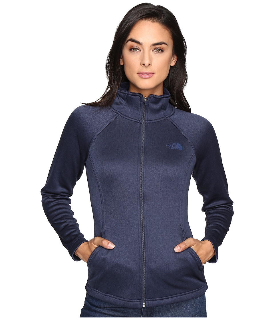 The North Face - Agave Full Zip (Cosmic Blue Heather) Women's Sweatshirt