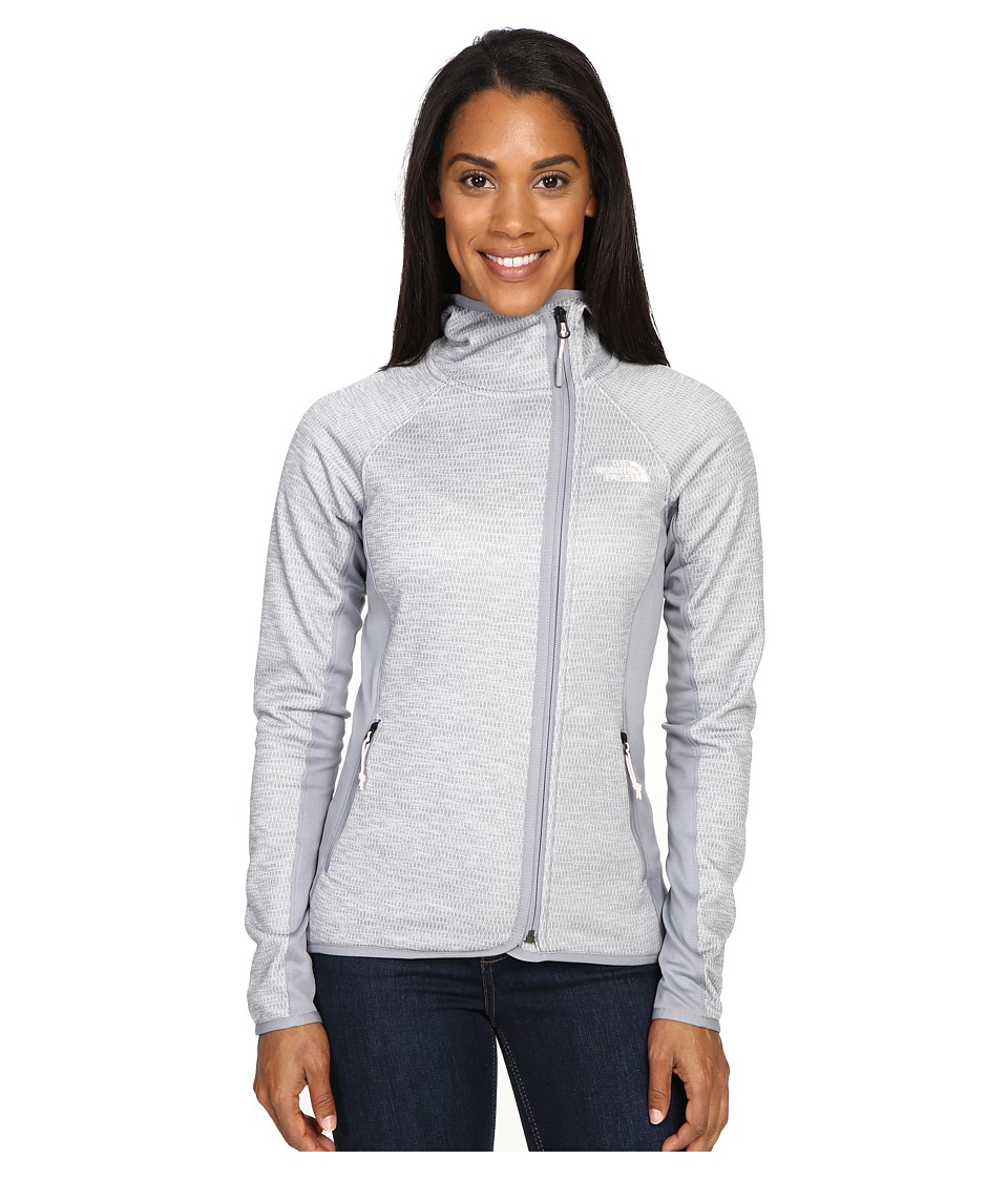 The North Face - Arcata Hoodie (TNF Light Grey Heather/Mid Grey/Purdy Pink) Women's Sweatshirt