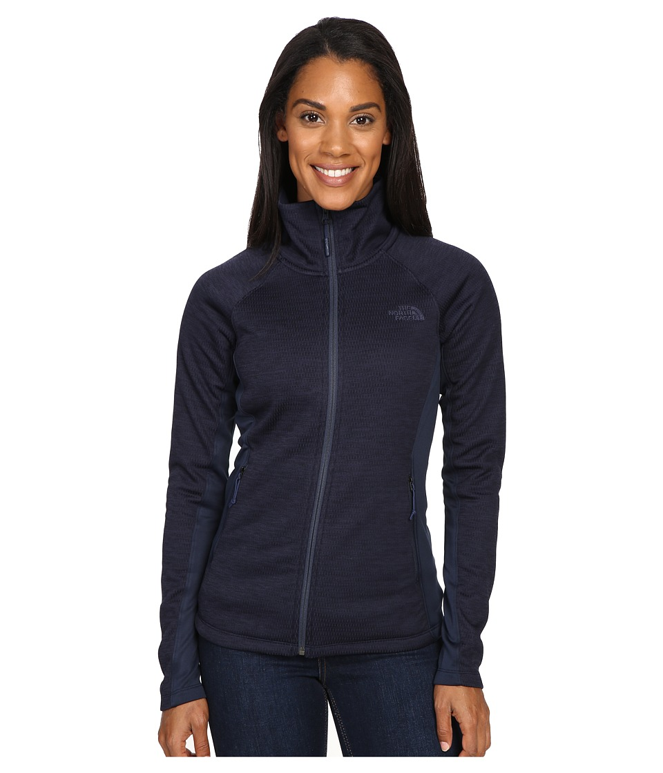 The North Face - Arcata Full Zip (Cosmic Blue Heather/Cosmic Blue) Women's Coat