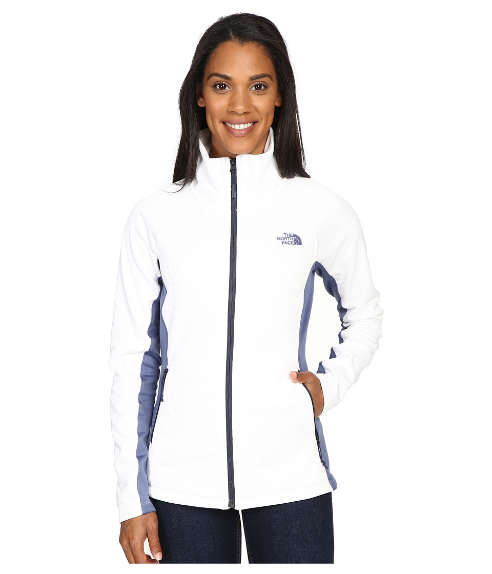 The North Face - Arcata Full Zip (TNF White/Coastal Fjord Blue/Cosmic Blue) Women's Coat