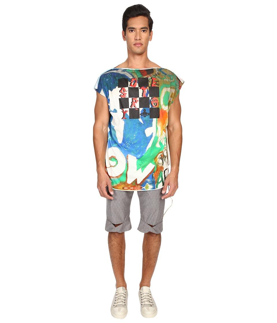 Vivienne Westwood - Destroy Square T-Shirt (Map Print) T Shirt