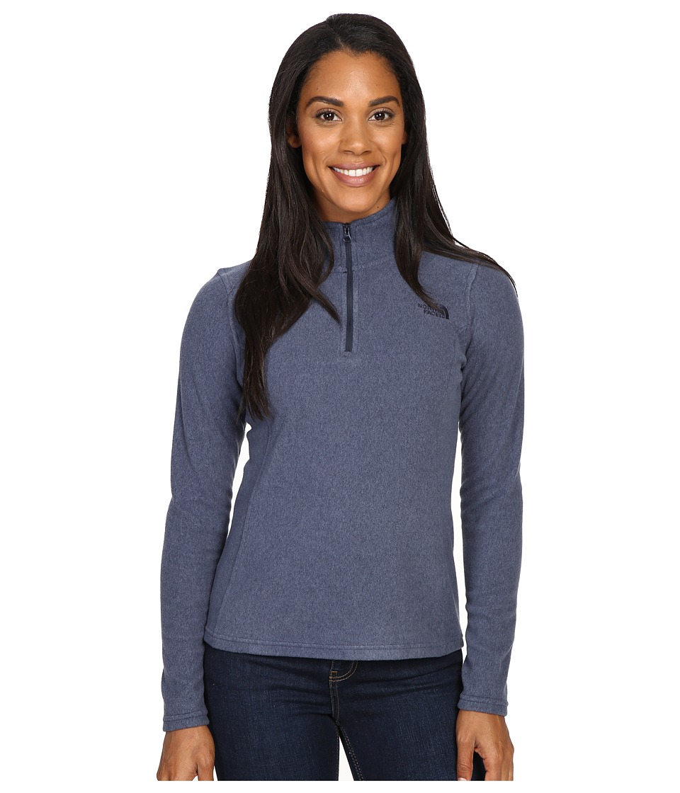 The North Face - Glacier 1/4 Zip Fleece Top (Cosmic Blue Heather/Cosmic Blue) Women's Fleece