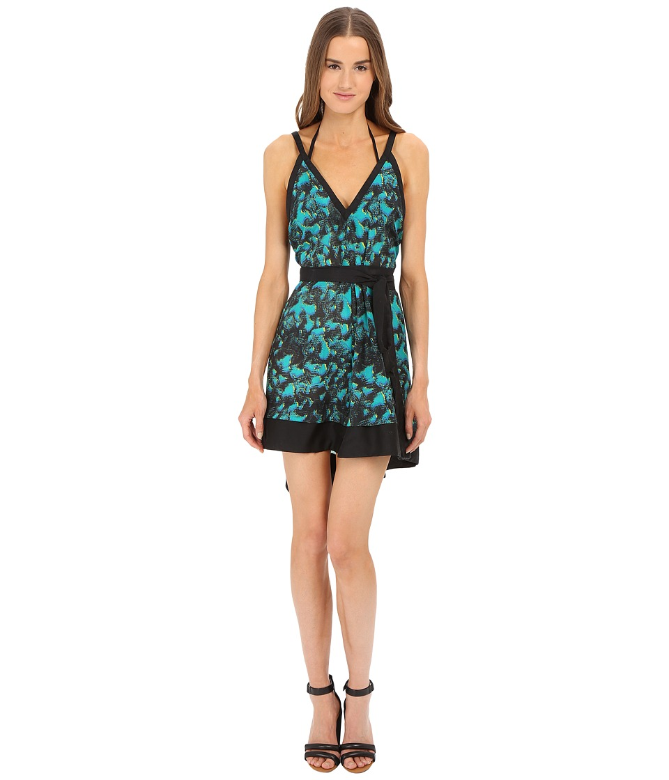 Proenza Schouler - Peacock Belted Sundress Cover-Up (Turquoise) Women's Swimwear