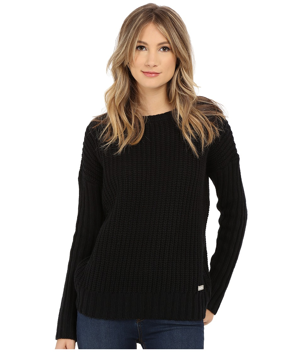 Bench - Elliptical Loose Hoodie (Jet Black) Women's Sweater