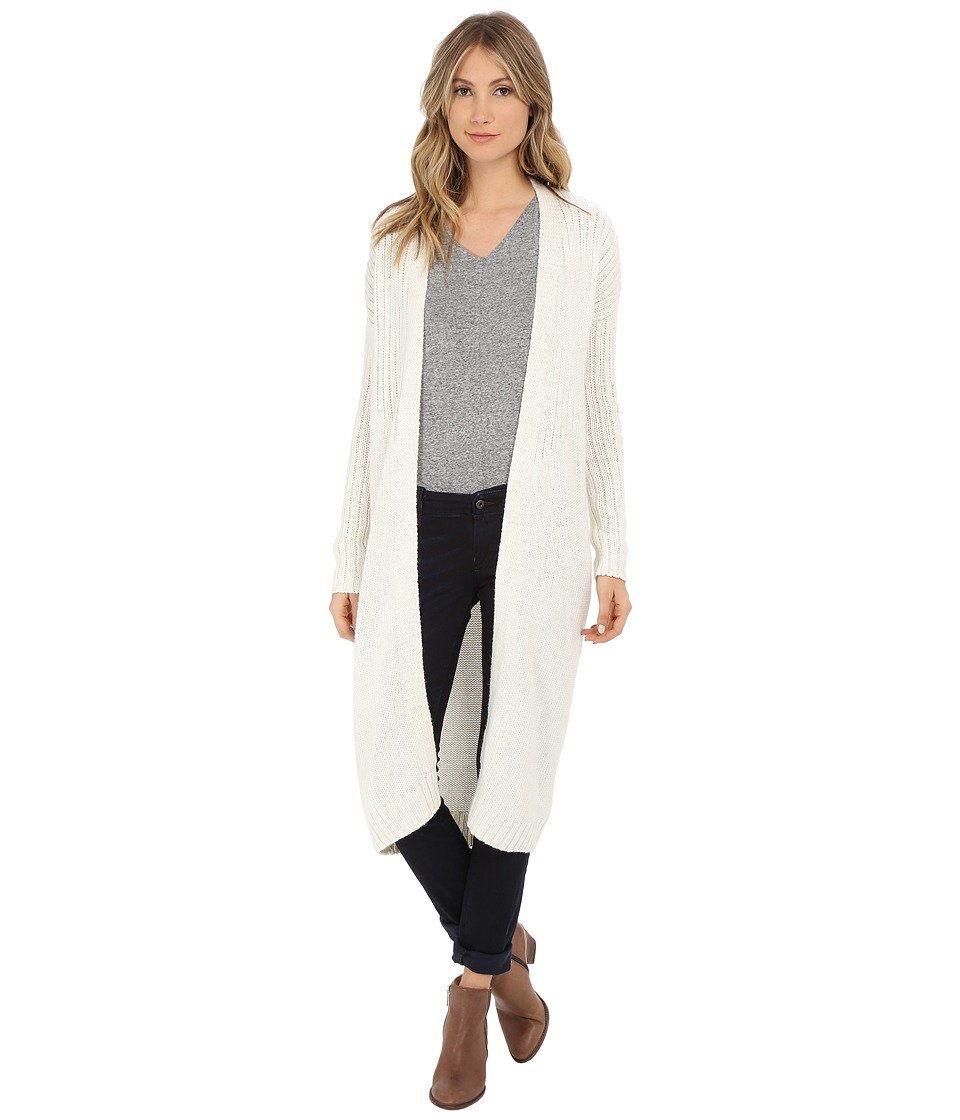 Bench - Standtall Long Cardigan (Pristine) Women's Sweater