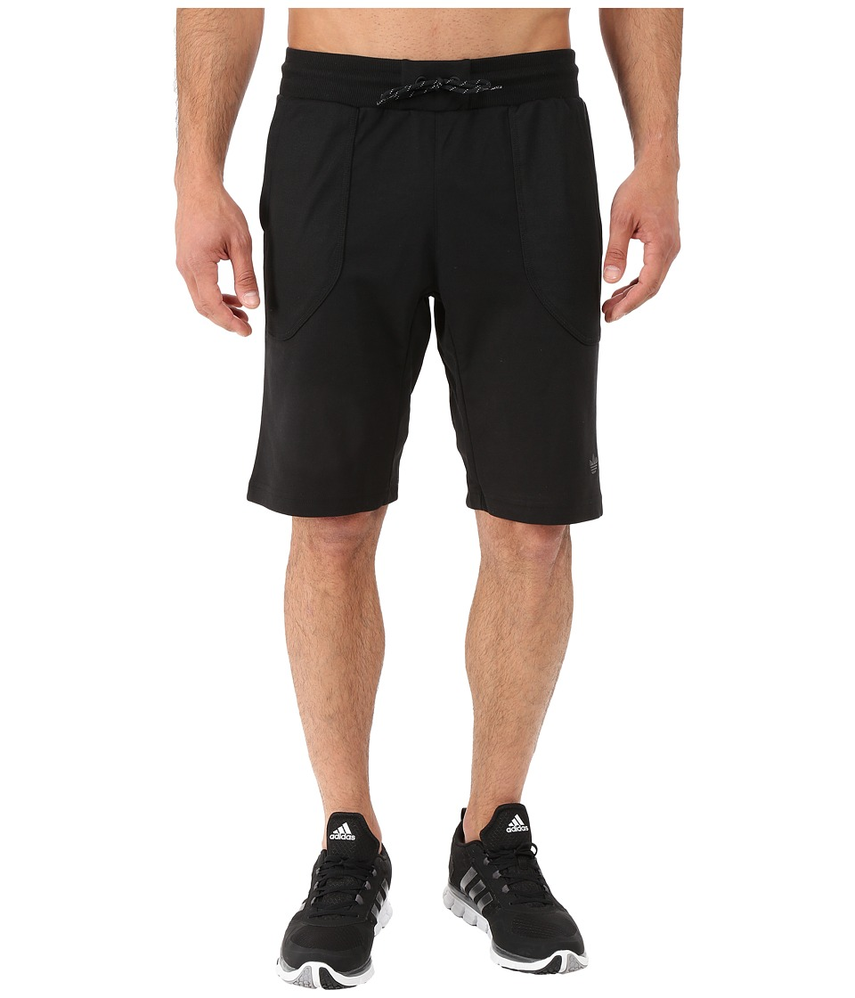adidas Originals - Sport Luxe Knit Shorts (Black) Men's Shorts