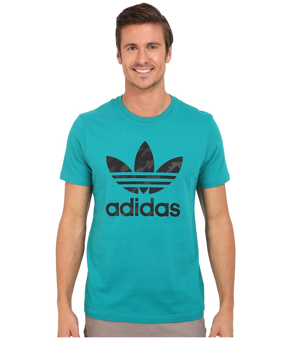 adidas Originals - Originals Trefoil Tee - Camo (Equipment Green) Men's T Shirt