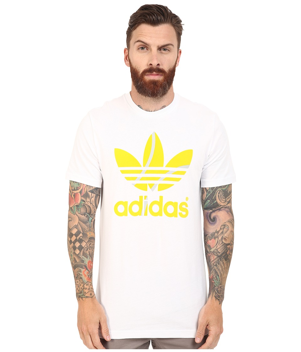 adidas Originals - Flock Tennis Ball Tee (White/Equipment Yellow) Men's T Shirt