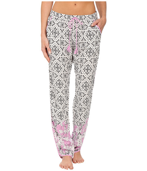 P.J. Salvage - Floral Tile Luxe Pants (Ivory) Women