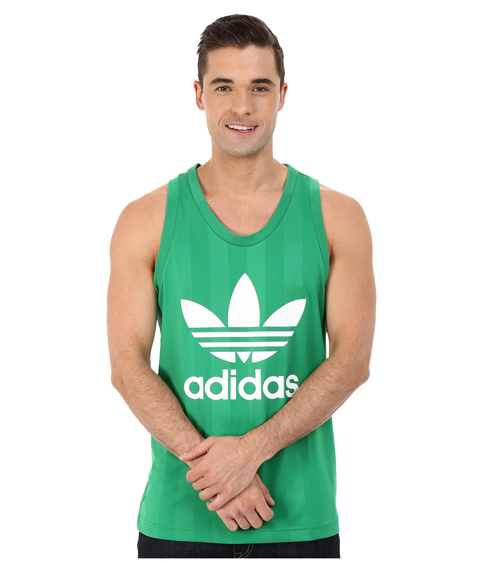 adidas Originals - Trefoil Tank Top (Green/White) Men's Sleeveless