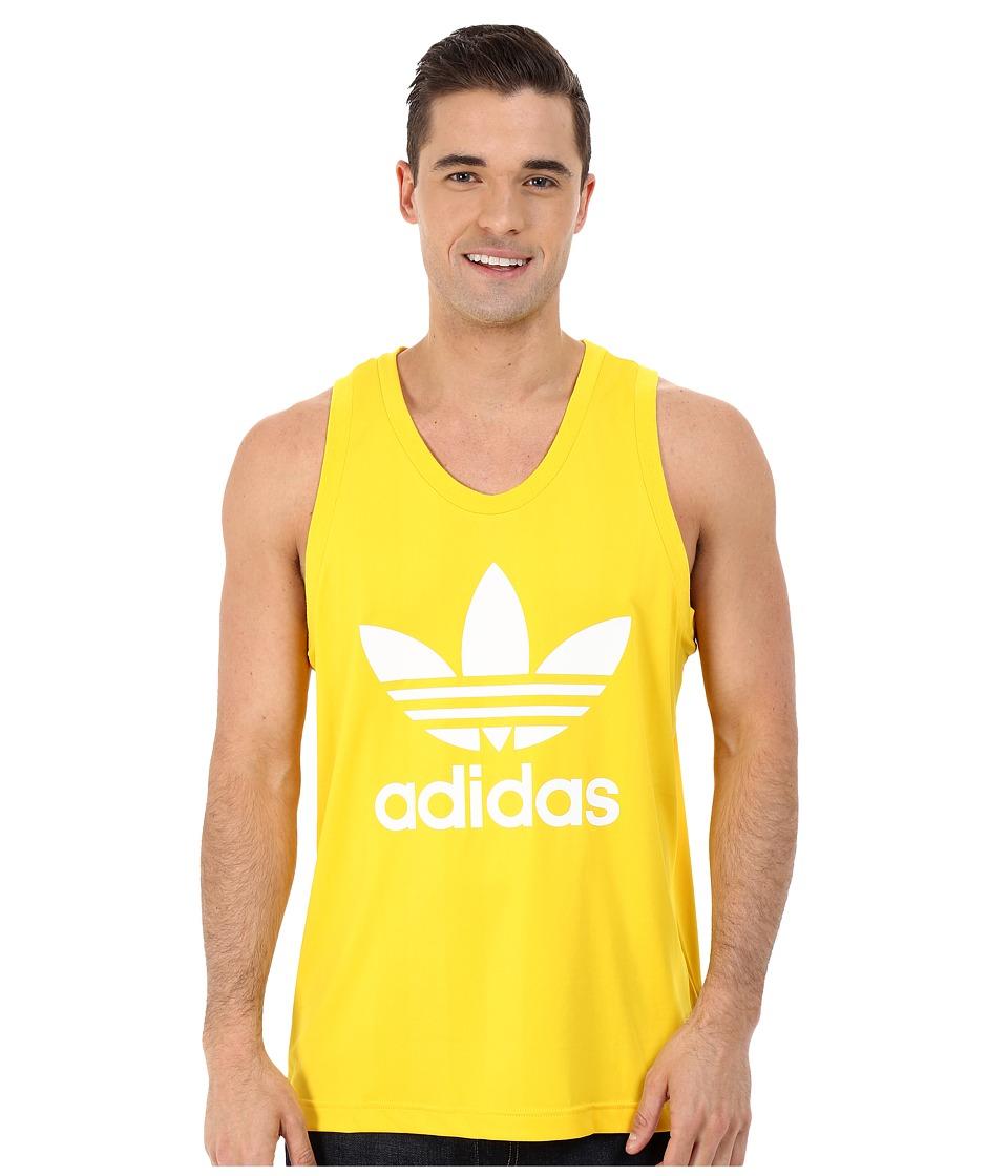 adidas Originals - Trefoil Tank Top (Equipment Yellow/White) Men's Sleeveless