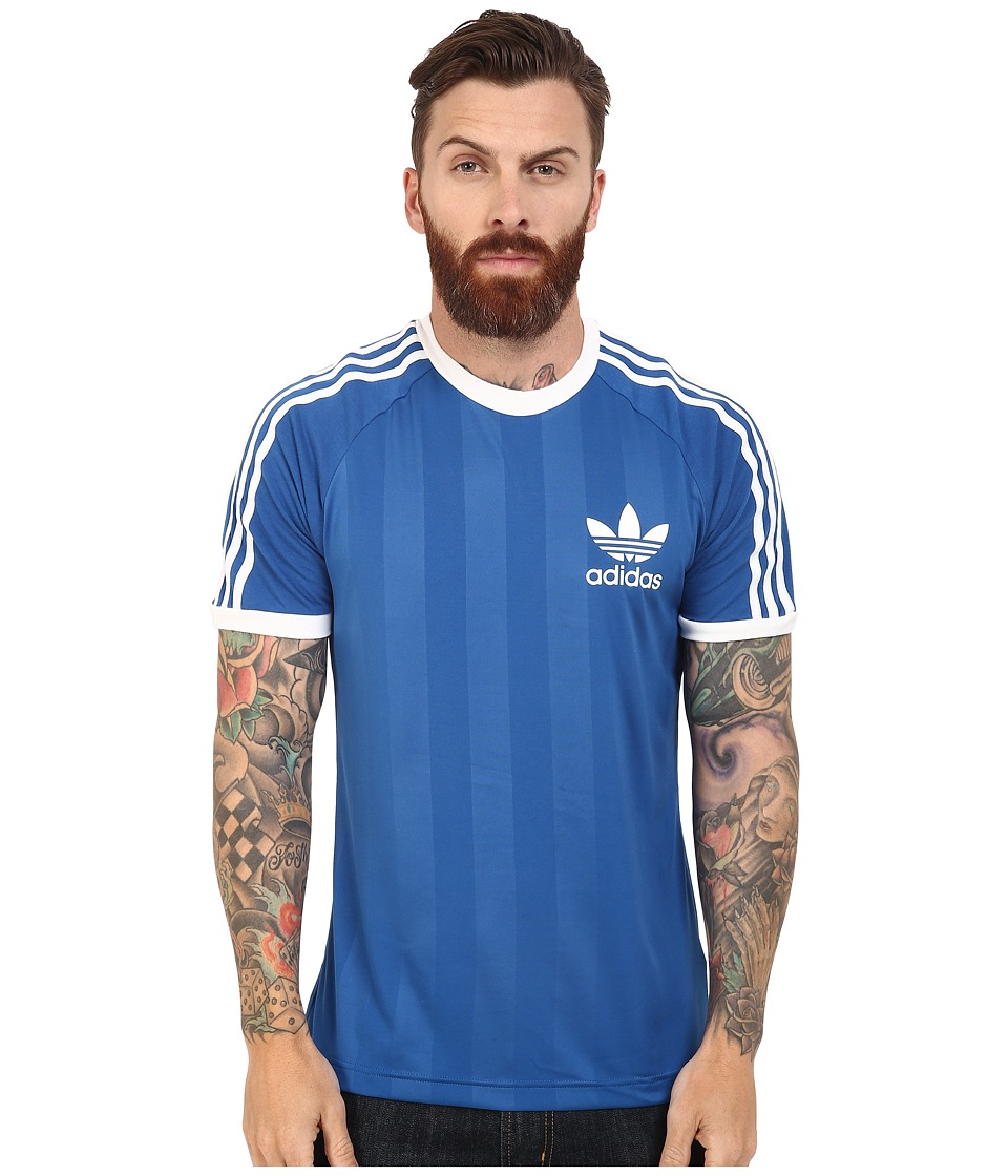 adidas Originals - California Tee (Equipment Blue/White) Men's T Shirt