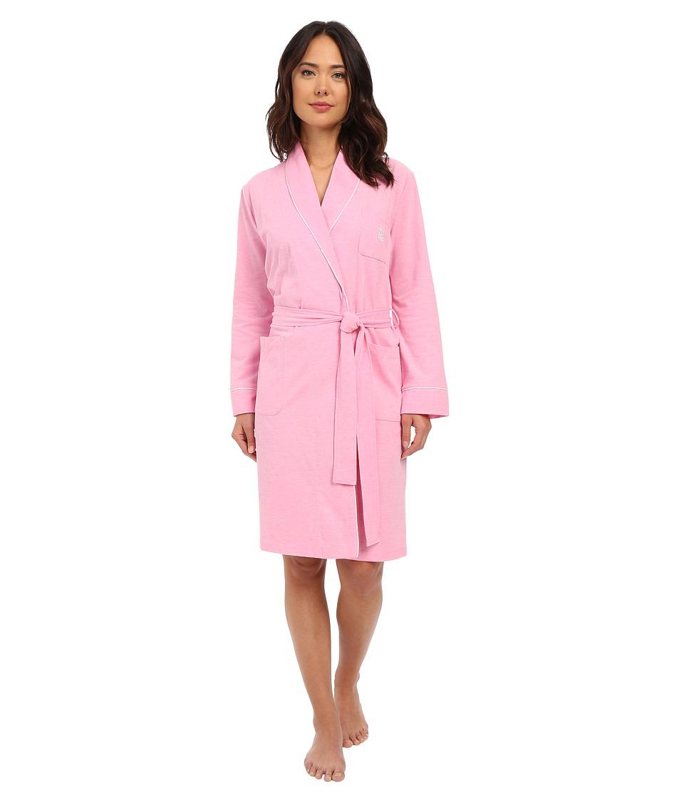 LAUREN Ralph Lauren - Pique Robe (Pink) Women's Robe