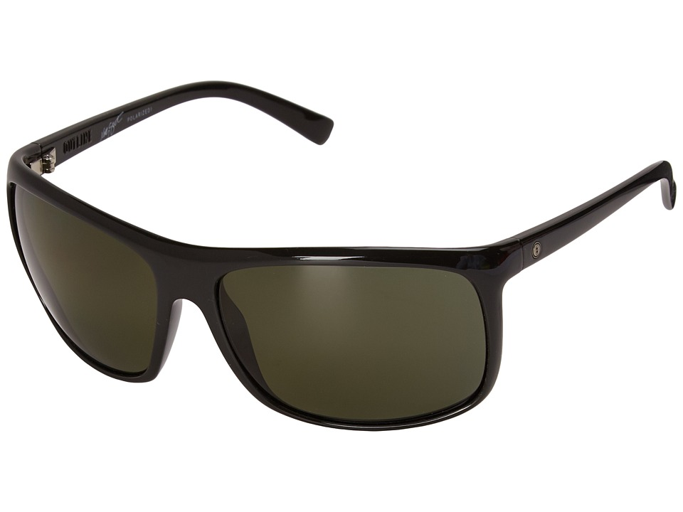 Electric Eyewear - Outline (Gloss Black/M1 Grey Polarized) Sport Sunglasses
