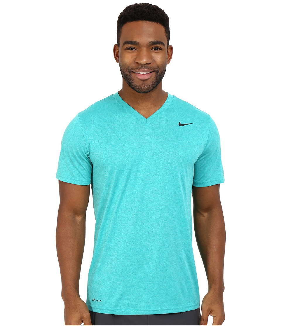Nike - Legend 2.0 Short Sleeve V-Neck Tee (Teal Charge) Men's T Shirt