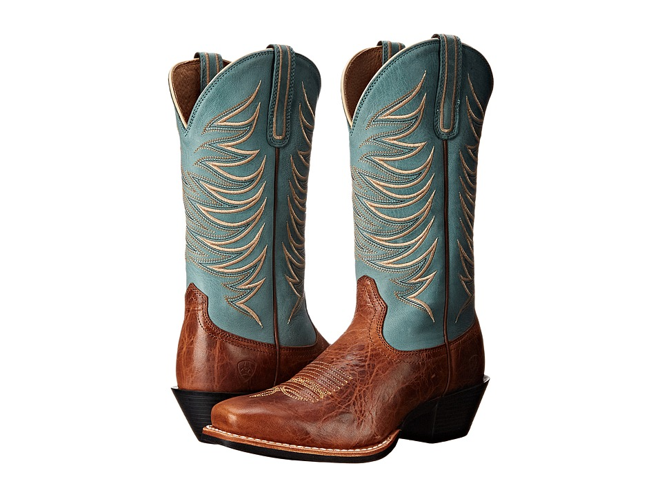 Ariat - Legend Legacy (Gingersnap/Sky Blue) Cowboy Boots