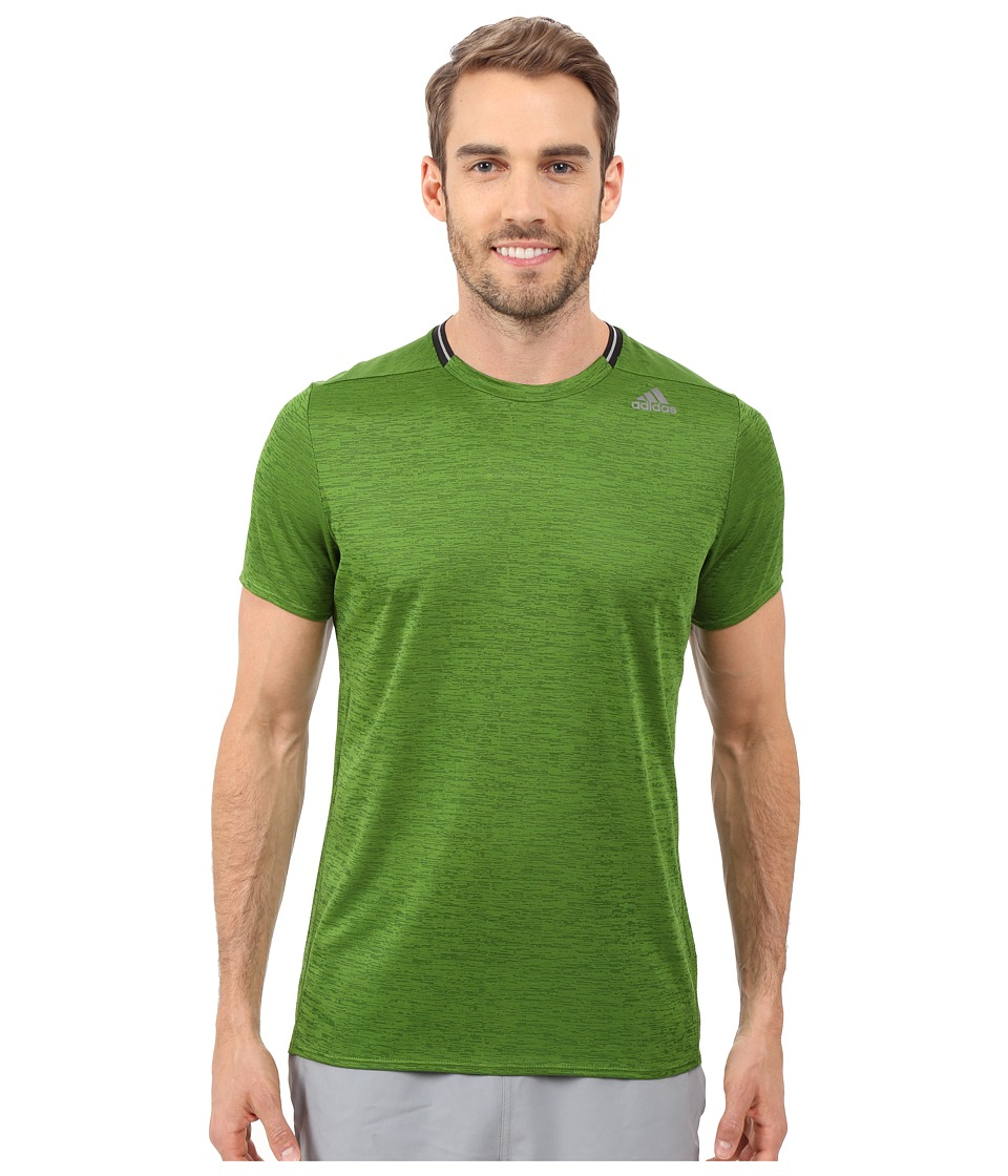 adidas - Supernova Short Sleeve Tee (Raw Lime) Men's Short Sleeve Pullover
