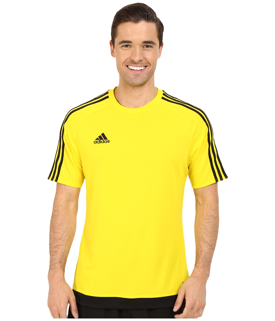 adidas - Estro 15 Jersey (Yellow/Black) Men's Short Sleeve Pullover