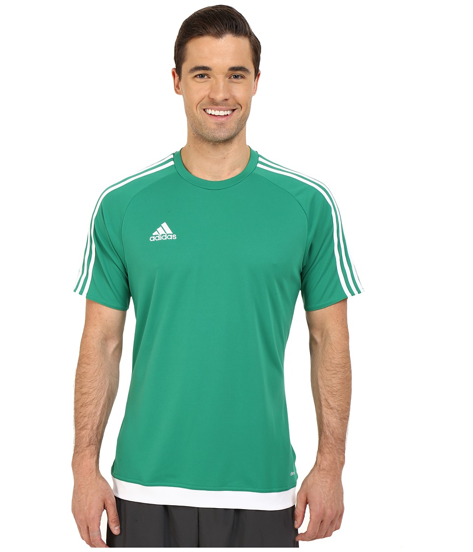 adidas - Estro 15 Jersey (Bold Green/White) Men's Short Sleeve Pullover