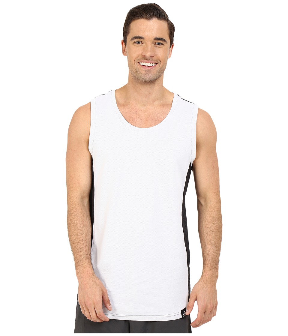 adidas Standard One Blocked Tank Top (White/Black) Men