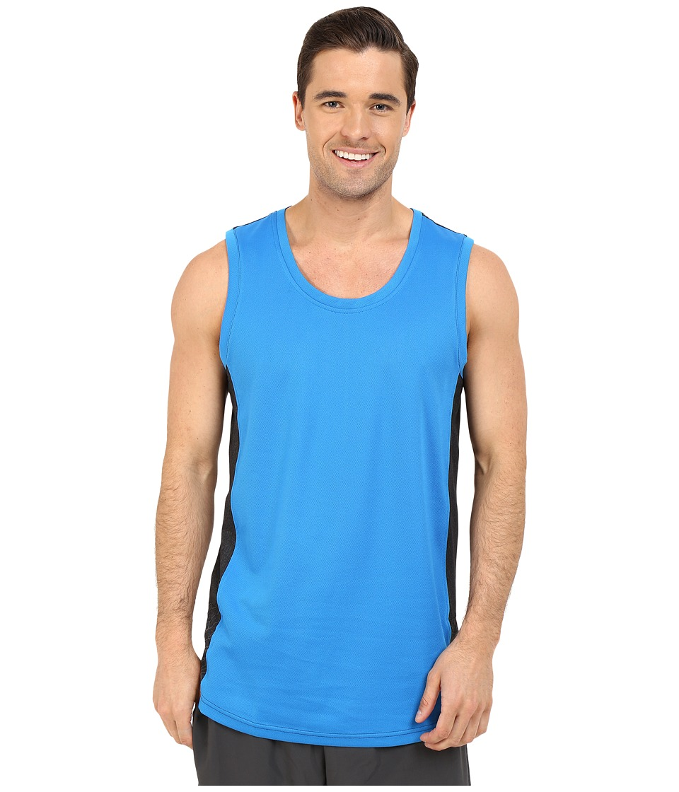 adidas Standard One Blocked Tank Top (Shock Blue/Grey) Men