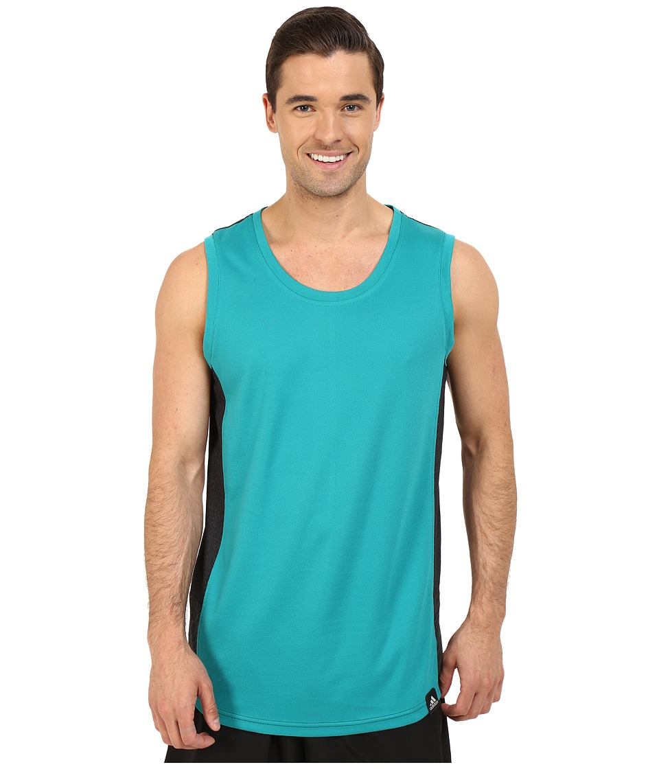 adidas Standard One Blocked Tank Top (EQT Green/Black) Men
